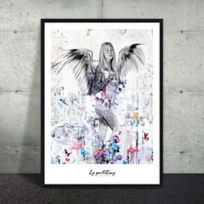 Plakat af kvinde med vinger