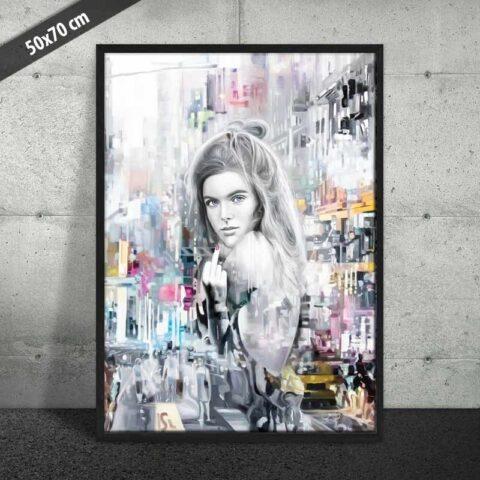 Plakat af rebelsk skønhed
