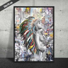 Unika plakat af indianer