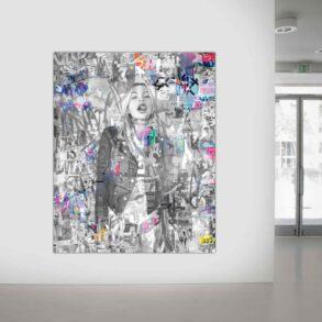 Maleri af fræk kvinde