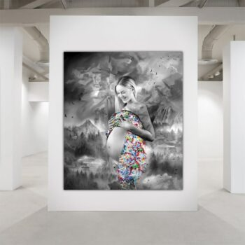Maleri af gravid kvinde