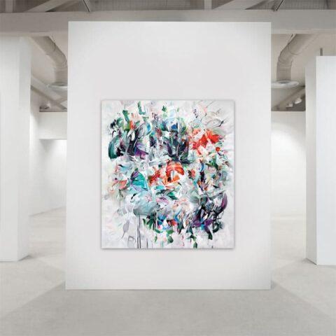 Maleri af abstrakte penselstrøg