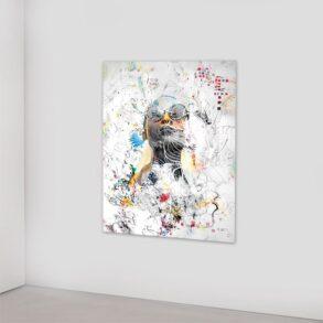 Stilfuld kvinde i moderne kunst