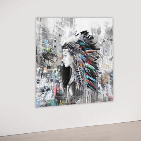 Kunst af kvinde i storbyen