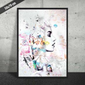 Plakat af dansk kunstner