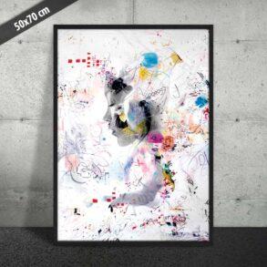 Plakat af abstrakt kunst