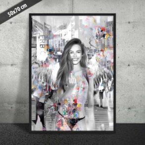 Smuk plakat af nøgen kvinde