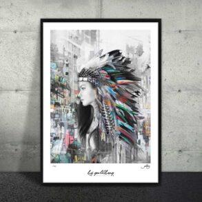 Indianer i storby på plakat