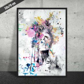 Moderne plakat med farver