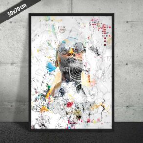 Abstrakt kunst plakat