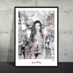 Plakat af nøgen kvinde med vinger
