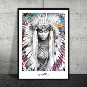 Indianerkvinde på plakat