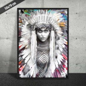 Forførende plakat af kvinde