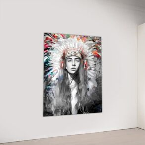 Lærredstryk af indianer