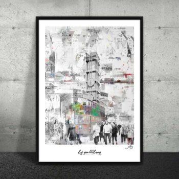 Moderne plakat af storby