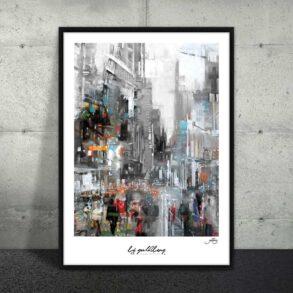 Plakat af storby