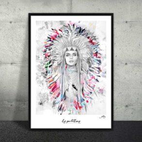Plakat af indianerkvinde