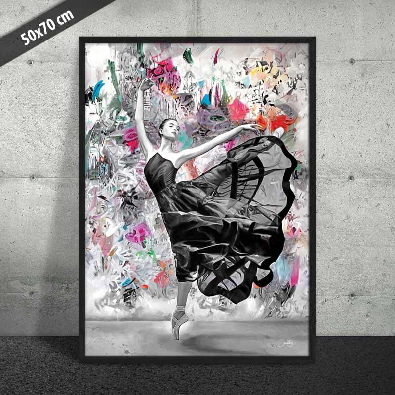 Ballerina på plakat