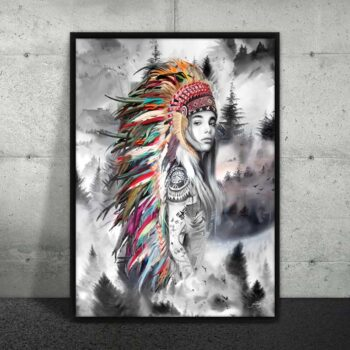 Plakat af tatoveret skønhed
