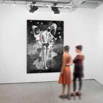 Tryk på lærred af dansk kunstner