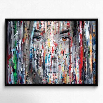 Plakat af ansigt i farver