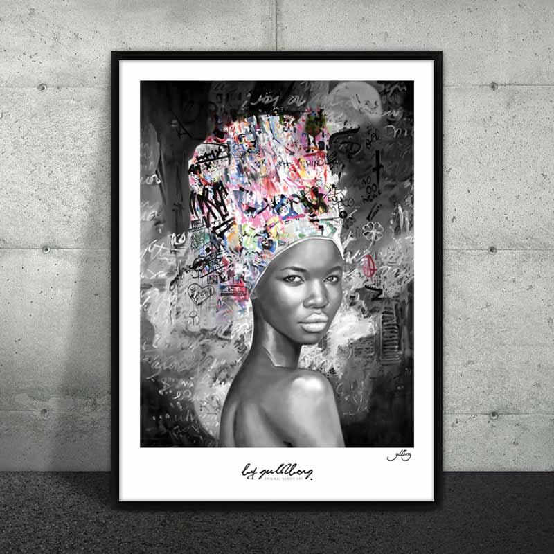 Smuk afrikansk kvinde plakat