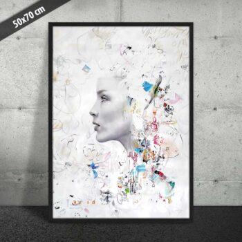 Kvinde ansigt på plakat